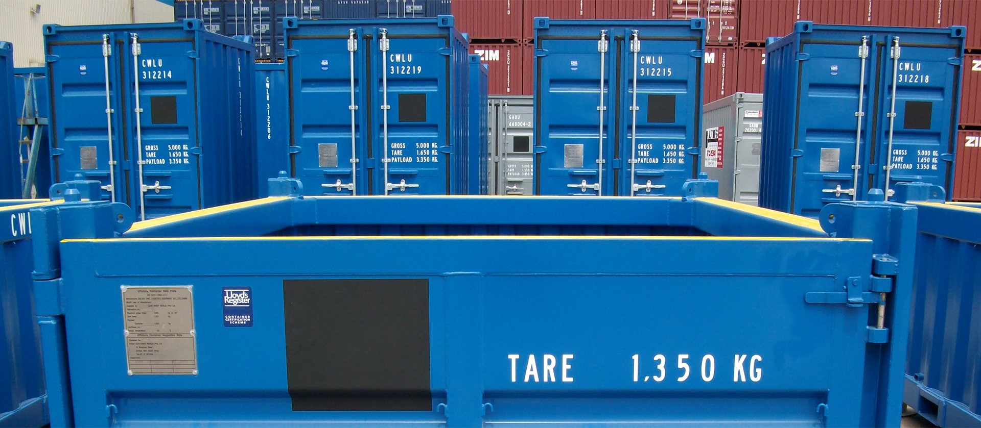 Offshore storage, refrigeration and tank containers DNV 2.7-1/2, converted containers fully furnished and multi-purpose