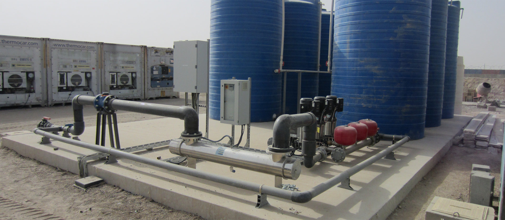 Customized diesel generating sets, potable water tanks, submersible pumps for water wells, pressure groups, water and waste water treatment plants